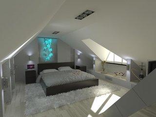 Amenajare minimalista moderna pentru un dormitor