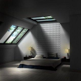 Camera la mansarda cu luminator si veluxuri