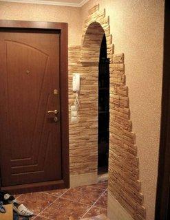 Pereti hol intrare placati cu piatra decorativa