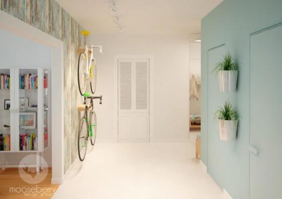 idee depozitare bicicleta in holul de la intrare