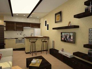 Idee moderna de amenajare a unui apartament cu o camera