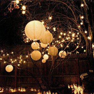 Instalatii luminoase in copaci