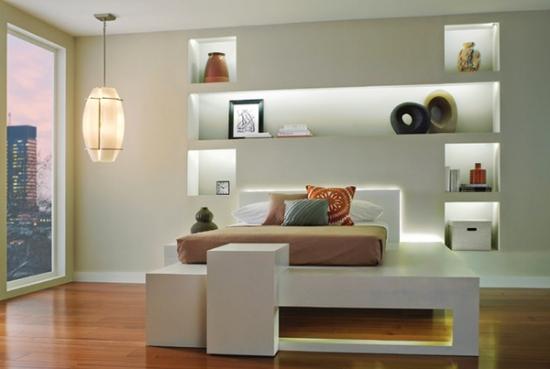 Rafturi decorative dormitor