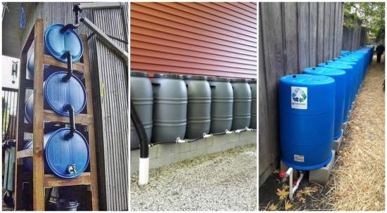 Sisteme facute manual pentru colectare apa ploaie