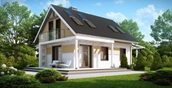 Casa cu 4 dormitoare cu mansarda