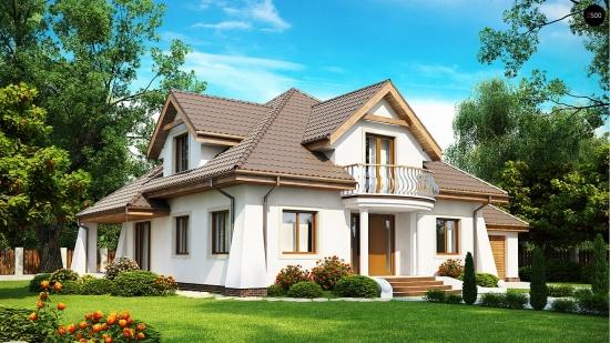 Casa cu terasa acoperita si garaj