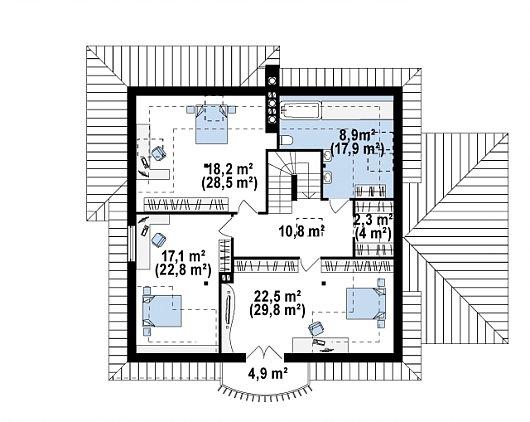 Etaj casa cu 3 dormitoare si baie