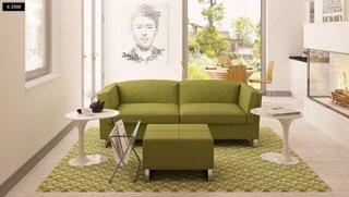 Living cu canapea si fotolii verzi
