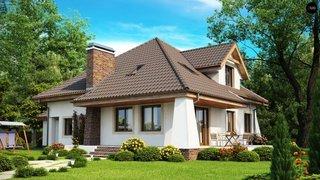 Proiect casa cu horn exterior