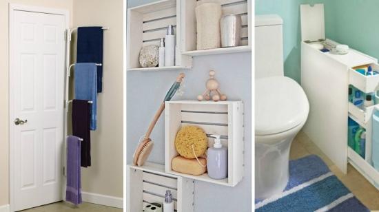 Idei creative pentru spatii de depozitare in baie - modele de etajere si rafturi