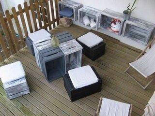 Loc de relaxare pe terasa casei