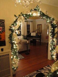 Idee decorare arcada intre camere