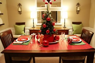 Varianta decorare masa pentru sarbatorile de iarna