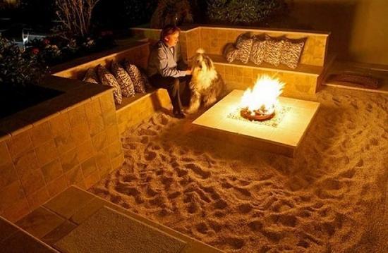 Nisip si foc de tabara acasa