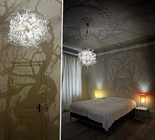 Padurea in casa ta prin lustre cu efecte optice