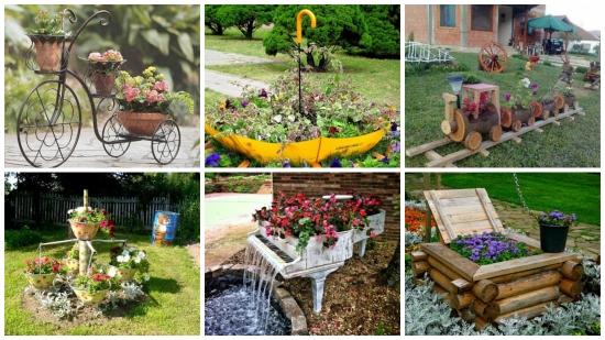 25 de idei ieftine si istete Do it Yourself pentru amenajarea gradinii