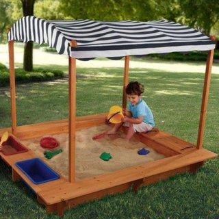 Loc de joaca pentru copii lada cu nisip si parasolar