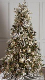 Auriu si argintiu ornamente brad