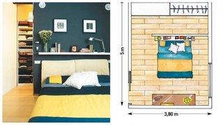 Dulap dormitor mascat de perete rigips