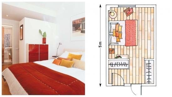 Idee mascare dulap dormitor cu structura din rigips