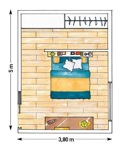 Schita amenajare moderna dormitor