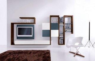 Design minimalist perete televizor