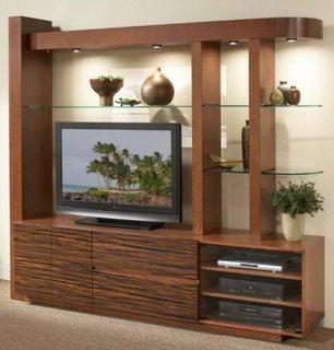 Mobilier din lemn perete televizor