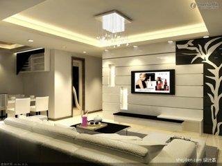 Perete televizor cu design modern