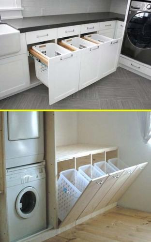Cosuri de rufe incorporate in mobilier
