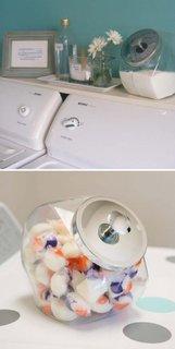 Detergenti in borcane de biscuiti
