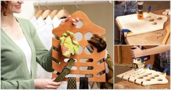 Organizator din lemn pentru esarfe