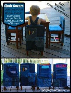 Huse scaune din blugi