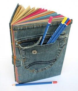 Invelitoare jurnal din blugi