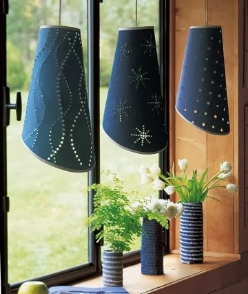 Lampi si vase decorative decorate cu blugi