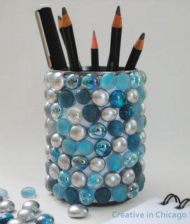 Suport creioane din cutie de tabla