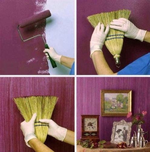Cum iti decorezi peretii cu ajutorul unei maturi