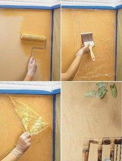 Imitatie stucco venetiano cu ajutorul unei pungi de plastic