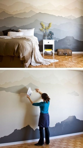 Peisaje zugravite pe perete