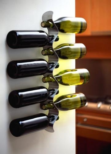 Suport din metal pentru sticle de vin