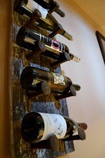 Suport rustic sticle de vin