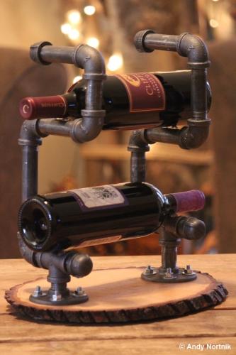 Suport sticle de vin din tevi