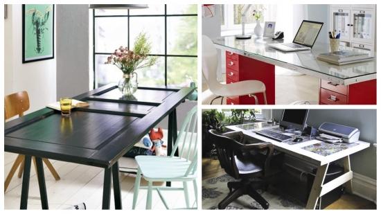 Proiect DIY - Iata 3 idei prin care sa transformi o usa veche intr-o masa sau un birou