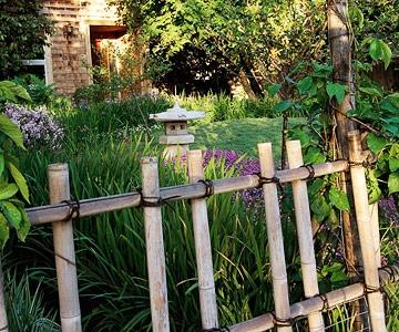 Gard pentru gradina din lemn model simplu