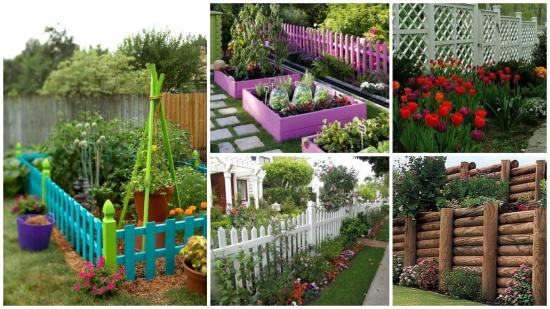 Garduri pentru gradina - 50 de imagini cu modele interesante, frumoase si moderne