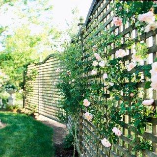 Panouri din zabrele de lemn folosite ca si gard de gradina