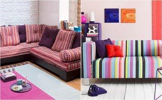 Canapele in dungi culori vesele