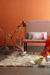 Spatiu de relaxare intr-o tonalitate de orange