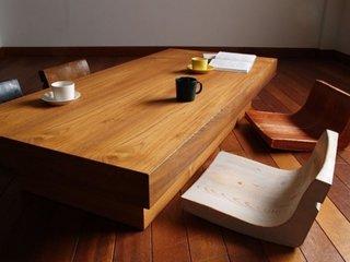 Masa si scaune model asiatic din lemn