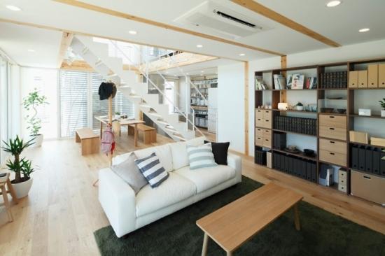 Model de amenajare pentru un living urban modern minimalist