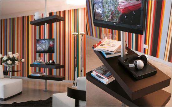 Rafturi rotative ale standului TV